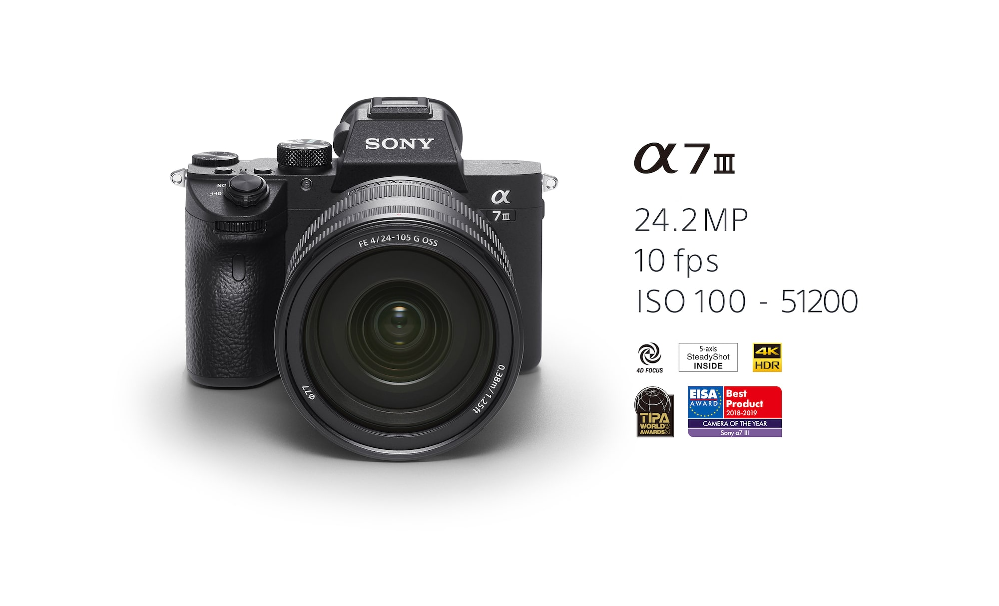Alpha 7 III with 35mm full-frame image sensor (Body only)