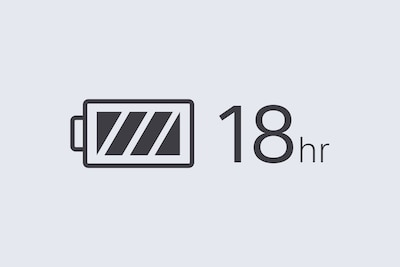 18hr battery logo