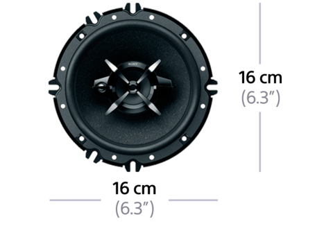 "Picture of 16cm (6.3"") 3-Way Mega Bass Coaxial Speakers"