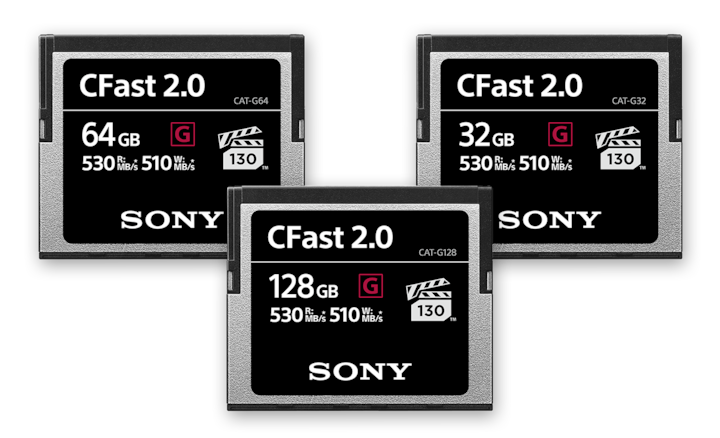 High-performance CFast memory cards
