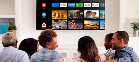 Android Tv with voice control for your convenience