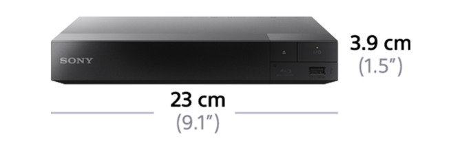 Dimensions of Blu-ray Disc™ Player with Wi-Fi PRO