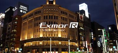 Exmor R CMOS sensor for extra sensitivity
