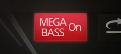 MEGA BASS boost with 10-band EQ for enhanced dynamics