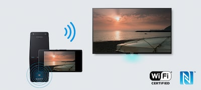 One-touch mirroring to see your smartphone screen on BRAVIA