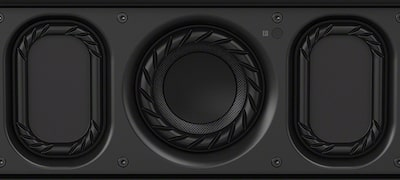Boost your bass with a 69mm subwoofer and dual passive radiators