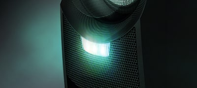 Speaker lights create a party atmosphere