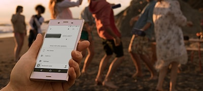 Control the party with the Sony | Music Center app