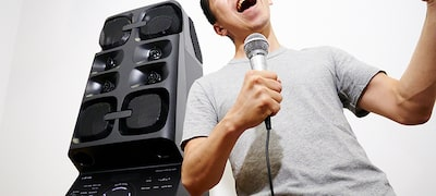 Karaoke features let you sing along