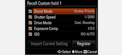 Recall Custom Setting during Hold