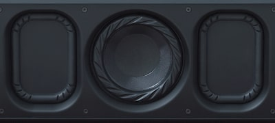 Boost your bass with a woofer and dual passive radiators